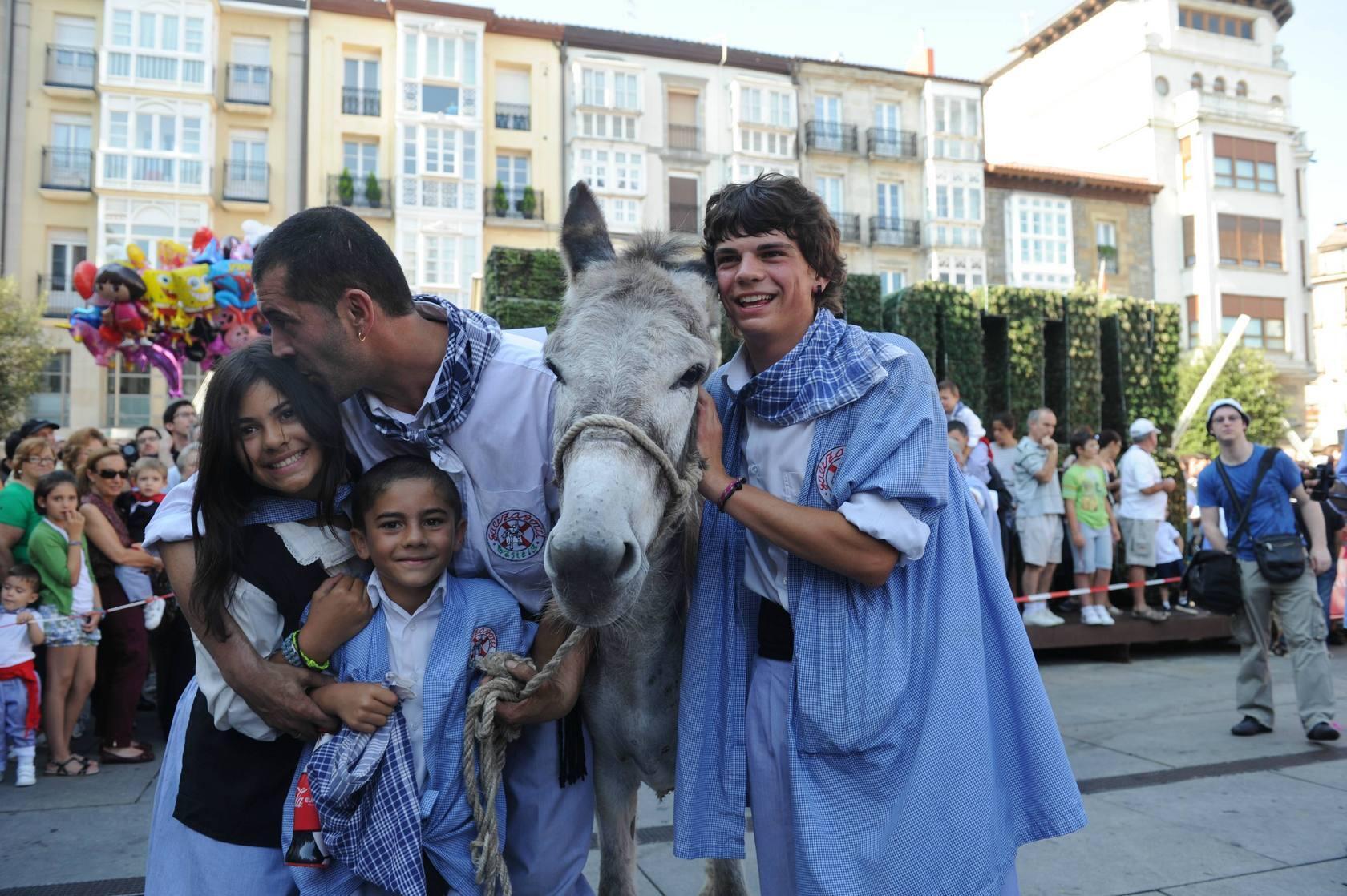 Carrera de burros del Día del Blusa de Vitoria