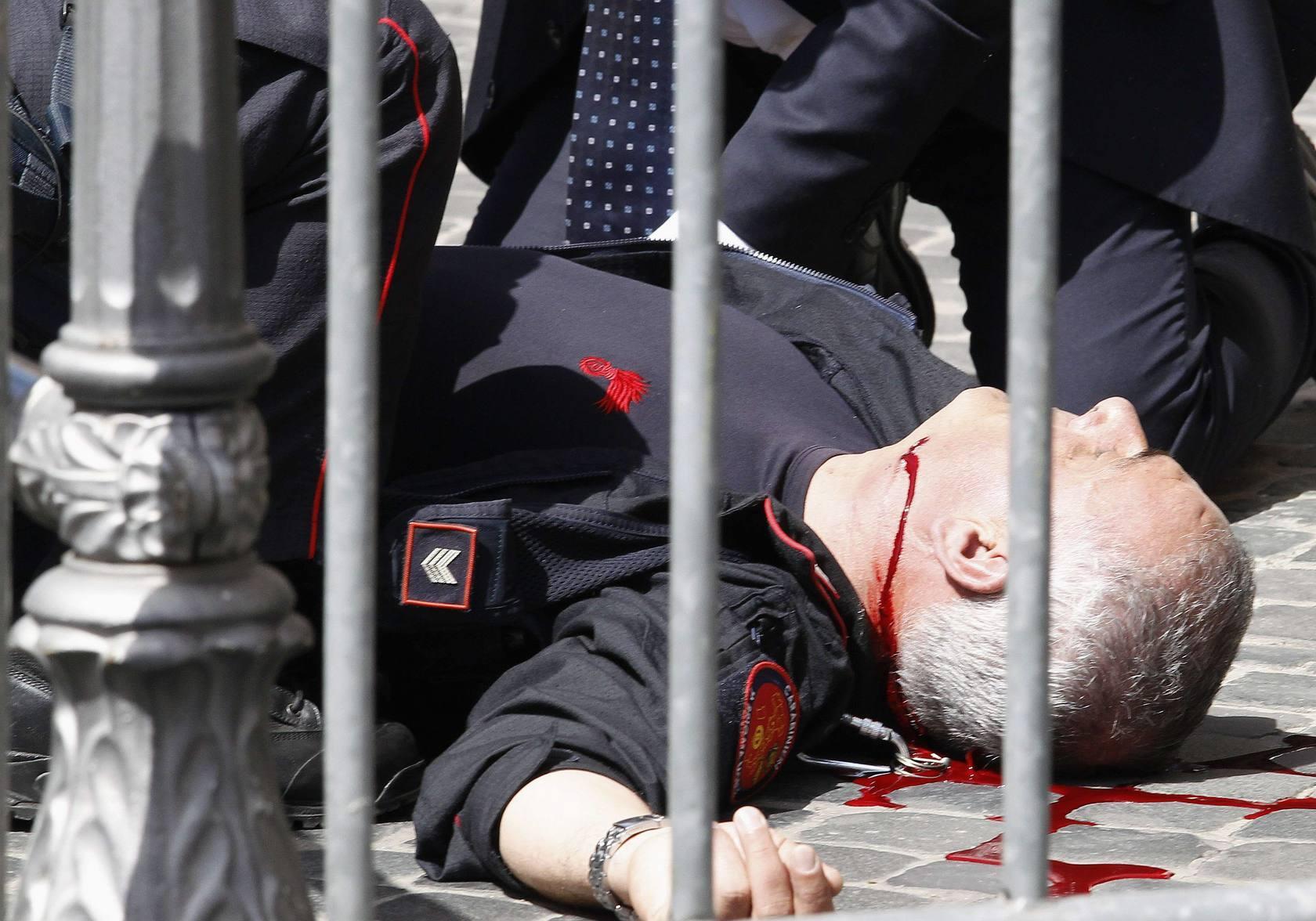 Tiroteo en Roma durante la jura del nuevo Gobierno