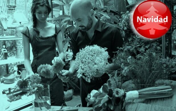 Curso de arreglos florales navideños