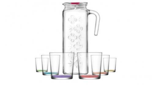 Set de Jarra más 6 vasos de agua