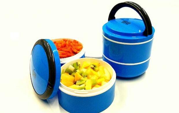 Porta alimentos de dos compartimentos