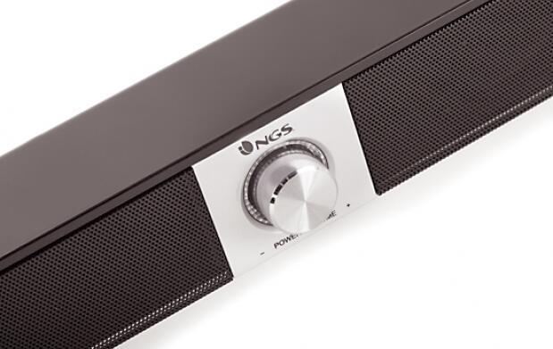 Barra de sonido de diseño minimalista