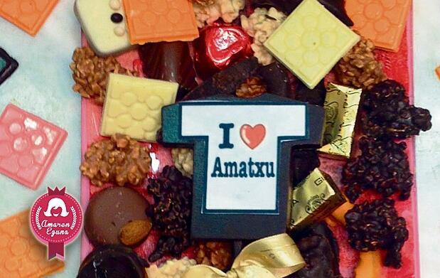 Exquisitos chocolates para Amatxu