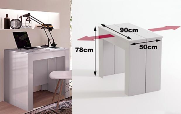 Consola o mesa para 10 en un único mueble