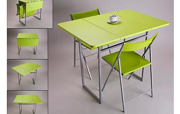 Pack de mesa con dos sillas plegables