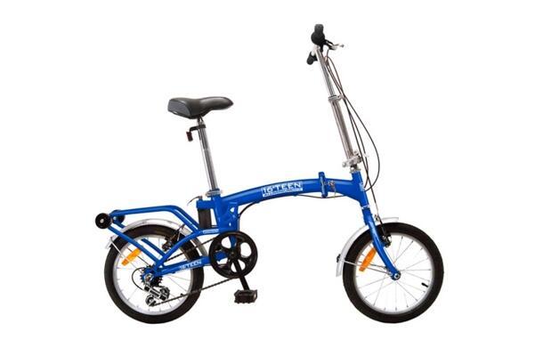 Bicicleta plegable. Funcional y ligera