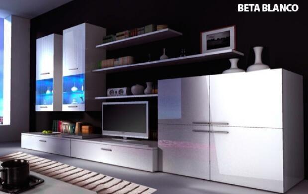 Mueble de salón con iluminación Led