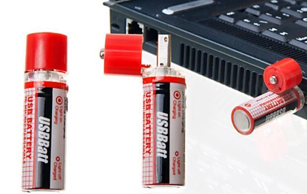2 pilas recargables con conector de USB