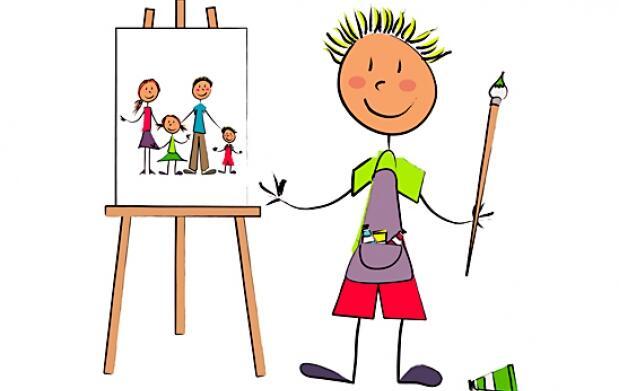 Pintura e inglés para niños