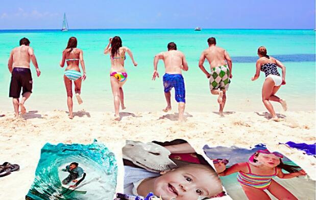 Toalla de playa con la imagen que quieras