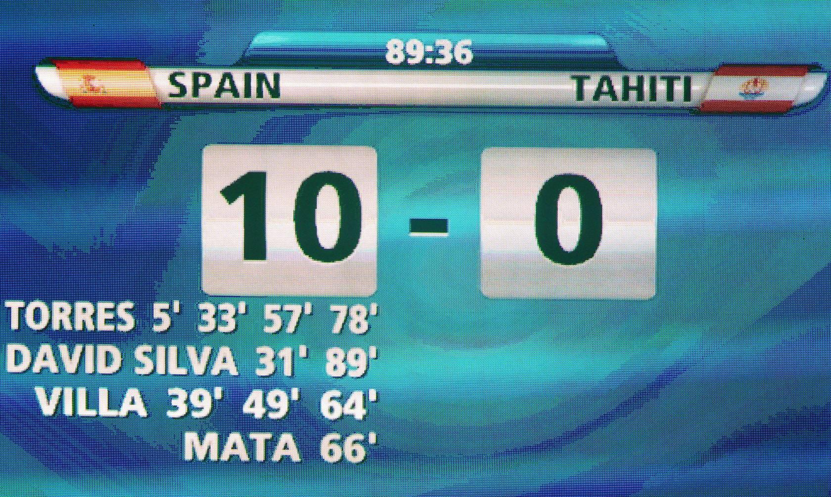 España-Tahití (fase de grupos de la Copa Confederaciones)