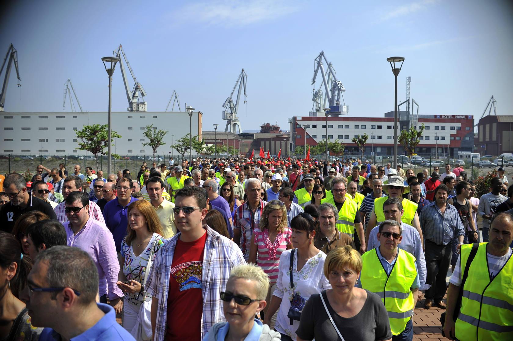Marcha para salvar los astilleros