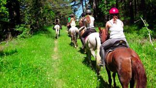 Ruta a caballo en el Valle Salado