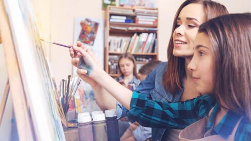 4 clases de pintura en Artebidea