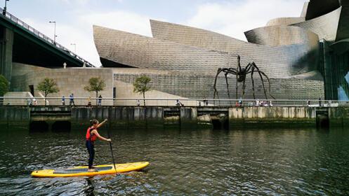 Travesía guiada de 2 horas de Paddle Sup por la ría de Bilbao