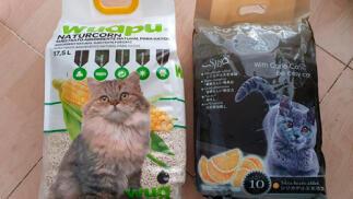 Arena para gatos y/o comida para perros a domicilio