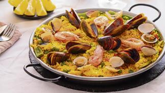 Menú de paella y entrante para dos en  La Lonja de Olabega