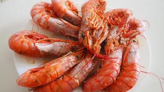 Exquisito menú de marisco, txuleta y rodaballo