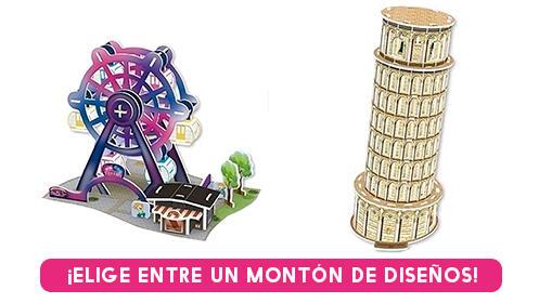 Puzzles 3D con varios diseños para elegir