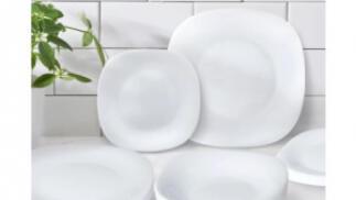 Vajilla Parma de vidrio opalino de 18 piezas