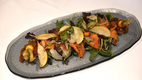 Menú de lujo en el Restaurante Víctor Montes
