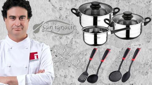 Batería de cocina 5 piezas San Ignacio + 4 utensilios