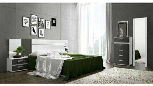 Dormitorio cabra con sinfonier espejo y leds