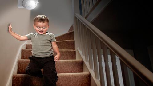 Lampara LED con sensor de presencia