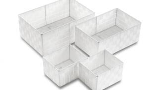Set de 4 cajas blancas