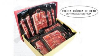 1,2kg Paleta ibérica de cebo loncheada certificada 50%