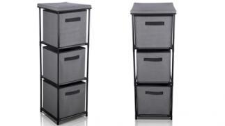 Mueble organizador gris