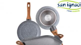 Set 2 sartenes + asador-grill de aluminio forjado San Ignacio