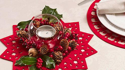 Bajoplatos y salvamanteles navideños