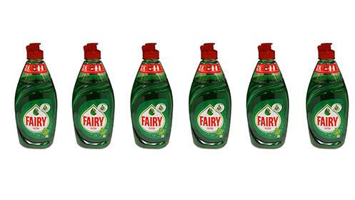Pack de 6 botellas Fairy Ultra Original de 480ml