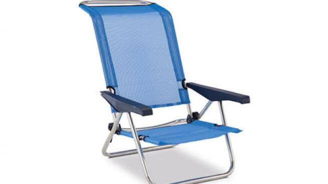 Silla reclinable y plegable para exterior