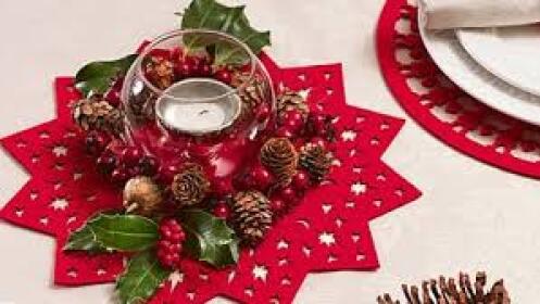Salvamanteles navideños